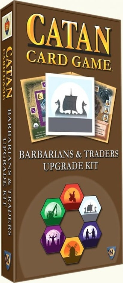 Catan Card Game Barbarians & Traders Upgrade Kit Expansion